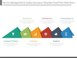 Service Management And Quality Assurance Template Powerpoint Slide Show