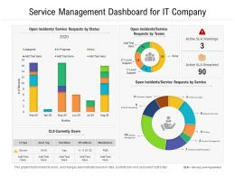 Service Management Dashboard For IT Company