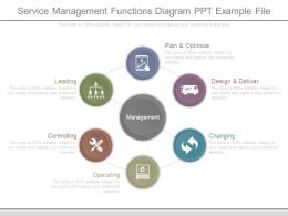 Service Management Functions Diagram Ppt Example File