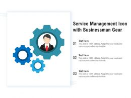 Service Management Icon With Businessman Gear