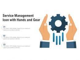 Service Management Icon With Hands And Gear
