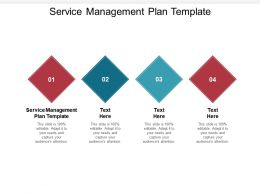 Service Management Plan Template Ppt Powerpoint Presentation Inspiration Guide Cpb