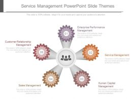 Service Management Powerpoint Slide Themes