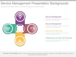 Service Management Presentation Backgrounds