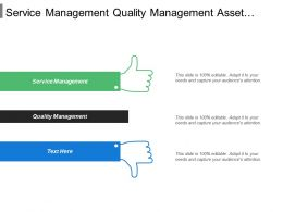 Service Management Quality Management Asset Management Operations Management