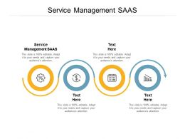 Service Management SAAS Ppt Powerpoint Presentation Infographic Template Files Cpb