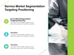 Service Market Segmentation Targeting Positioning Ppt Powerpoint Styles Graphics Cpb