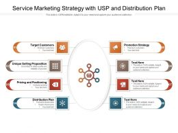 Service Marketing Strategy With USP And Distribution Plan