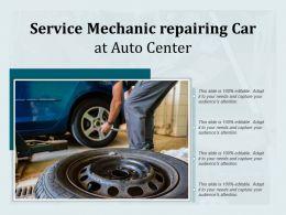 Service Mechanic Repairing Car At Auto Center