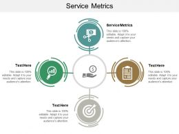 Service Metrics Ppt Powerpoint Presentation Gallery Visuals Cpb