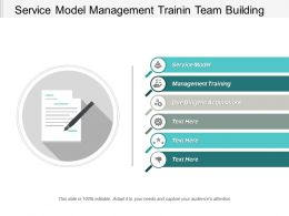 Service Model Management Training Team Building Due Diligence Acquisitions Cpb
