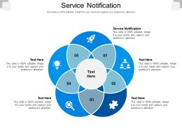 Service Notification Ppt Powerpoint Presentation Icon Example Cpb