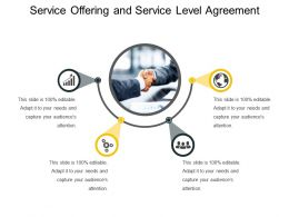 Service Offering And Service Level Agreement Presentation Deck