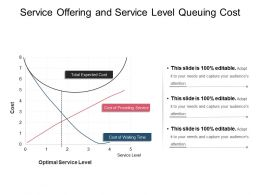 Service Offering And Service Level Queuing Cost Ppt Summary