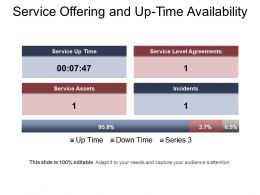 Service Offering And Up Time Availability Ppt Example