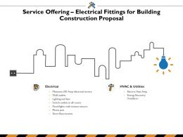 Service Offering Electrical Fittings For Building Construction Proposal