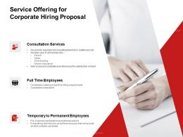 Service Offering For Corporate Hiring Proposal Ppt Powerpoint Presentation Icon Brochure