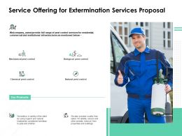 Service Offering For Extermination Services Proposal Ppt Powerpoint Icon Slide
