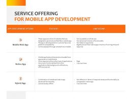 Service Offering For Mobile App Development Ppt Powerpoint Presentation Designs