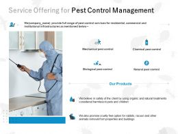 Service Offering For Pest Control Management Ppt Powerpoint Presentation File Icons