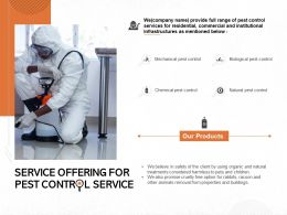 Service Offering For Pest Control Service Ppt Powerpoint Presentation Ideas Portfolio