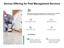 Service Offering For Pest Management Services Ppt Summary Slides
