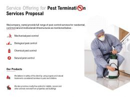 Service Offering For Pest Termination Services Proposal Ppt Powerpoint Presentation Portfolio