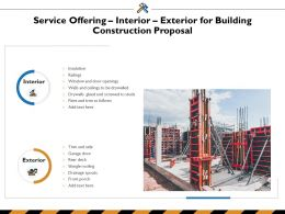 Service Offering Interior Exterior For Building Construction Proposal Ppt Powerpoint Presentation Model Design
