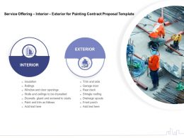 Service Offering Interior Exterior For Painting Contract Proposal Template Ppt Professional Maker