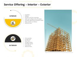 Service Offering Interior Exterior Ppt Powerpoint Presentation Gallery Aids