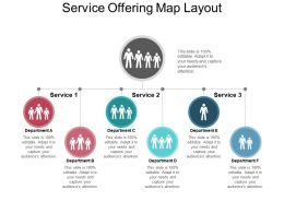 Service Offering Map Layout Ppt Example Professional