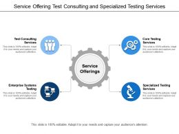 Service Offering Test Consulting And Specialized Testing Services