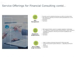 Service Offerings For Financial Consulting Contd Requirement Powerpoint Presentation