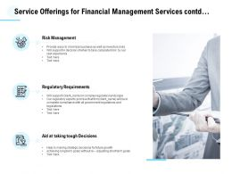 Service Offerings For Financial Management Services Contd Ppt Powerpoint Presentation Slides