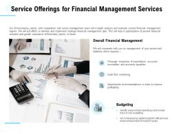 Service Offerings For Financial Management Services Ppt Powerpoint Presentation File Background