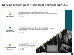 Service Offerings For Financial Services Contd Risk Management Ppt Slides