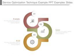 Service Optimization Technique Example Ppt Examples Slides