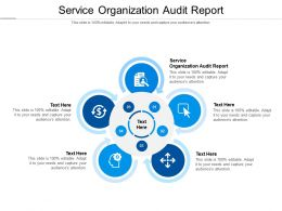 Service Organization Audit Report Ppt Powerpoint Presentation Deck Cpb