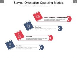 Service Orientation Operating Models Ppt Powerpoint Presentation Visual Aids Icon Cpb