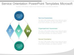 Service Orientation Powerpoint Templates Microsoft