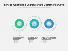 Service Orientation Strategies With Customer Surveys
