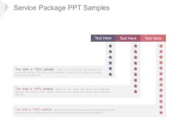 Service Package Ppt Samples