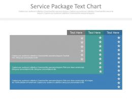 Service Package Text Chart Ppt Slides
