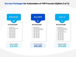 Service Packages For Automation Of HR Process Ppt File Example Introduction