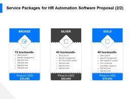 Service Packages For HR Automation Software Proposal Benefit Ppt File Elements
