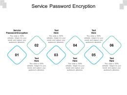 Service Password Encryption Ppt Powerpoint Presentation Show Model Cpb