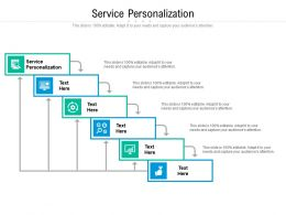 Service Personalization Ppt Powerpoint Presentation Infographic Template Introduction Cpb