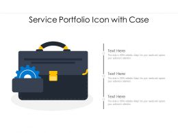 Service Portfolio Icon With Case