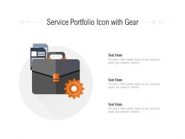 Service Portfolio Icon With Gear