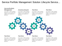 Service Portfolio Management Solution Lifecycle Service Lifecycle Design Operational